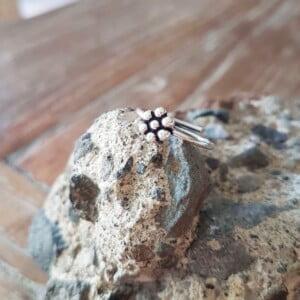 Boho Knuckle Ring Midi Ring Fingerspitzenring Silber
