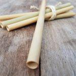 Besondere Weihnachtsgeschenke für Sie 6 Stück Nachhaltige Strohhalme Trinkhalme Bambus