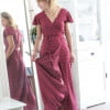 Polka dot Maxi dress Dark red Boho Chic Dotted dress Long Summer Dress with dots