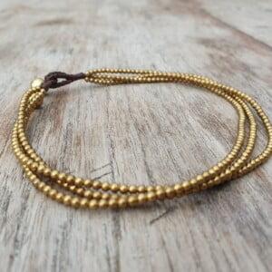 Messing Fusskettchen Antik Gold Orientalisch Schlichte Fußkette Glöckchen Makramee Boho Hippie Schmuck