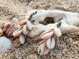 Kauro Muschel Ohrhänger Boho Beach Schmuck