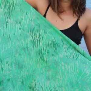 Bali Batik Sarong Strand Tuch Decke Schal Tuch Bandana Mint Grün (1)