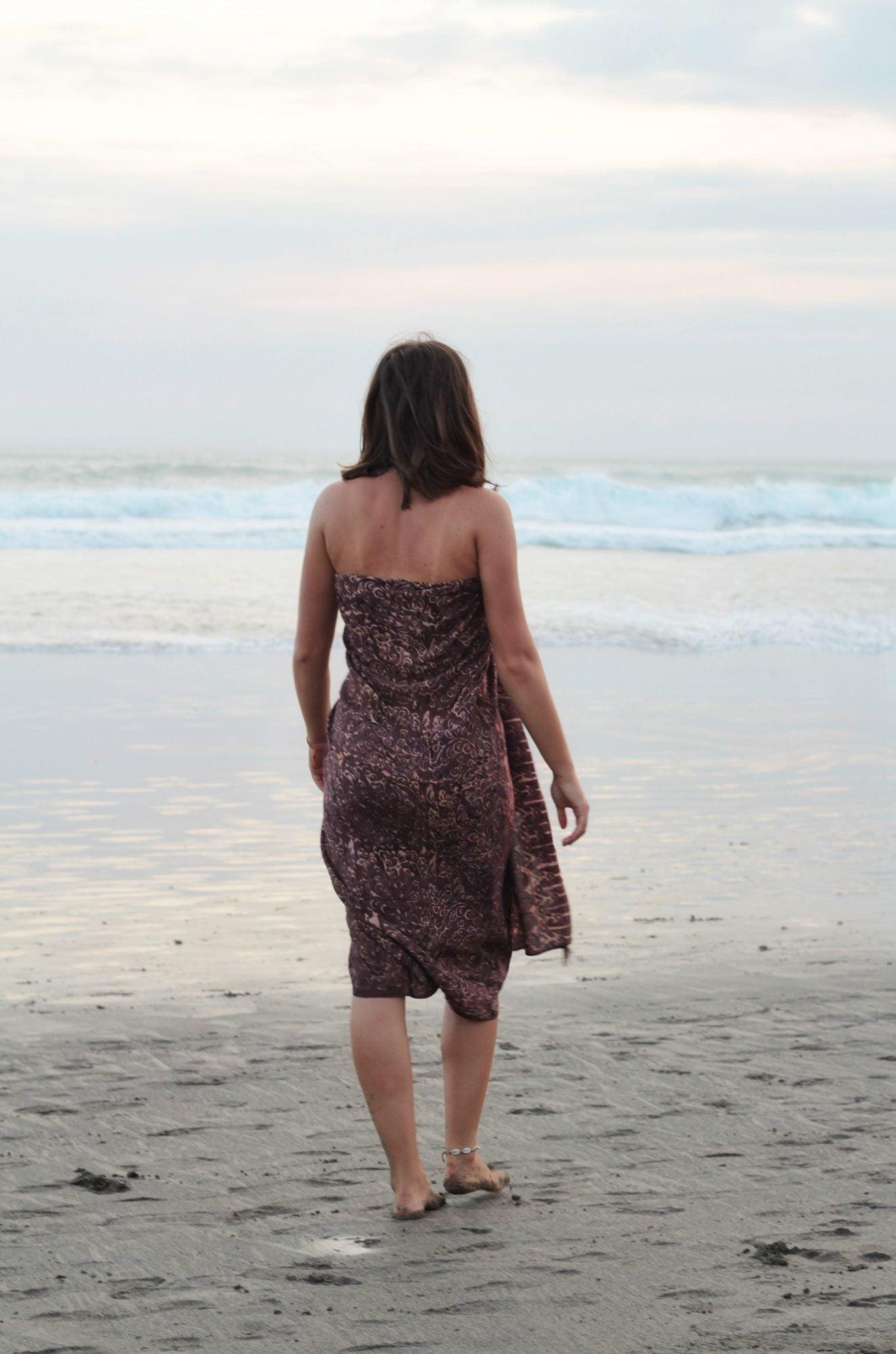 Bali Batik Sarong Strand Tuch Tuch Schal Braun Hippie Tuch (6)