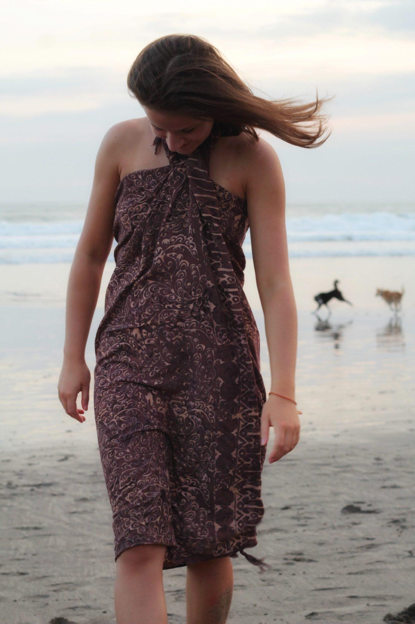 Bali Batik Sarong Strand Tuch Tuch Schal Braun Hippie Tuch