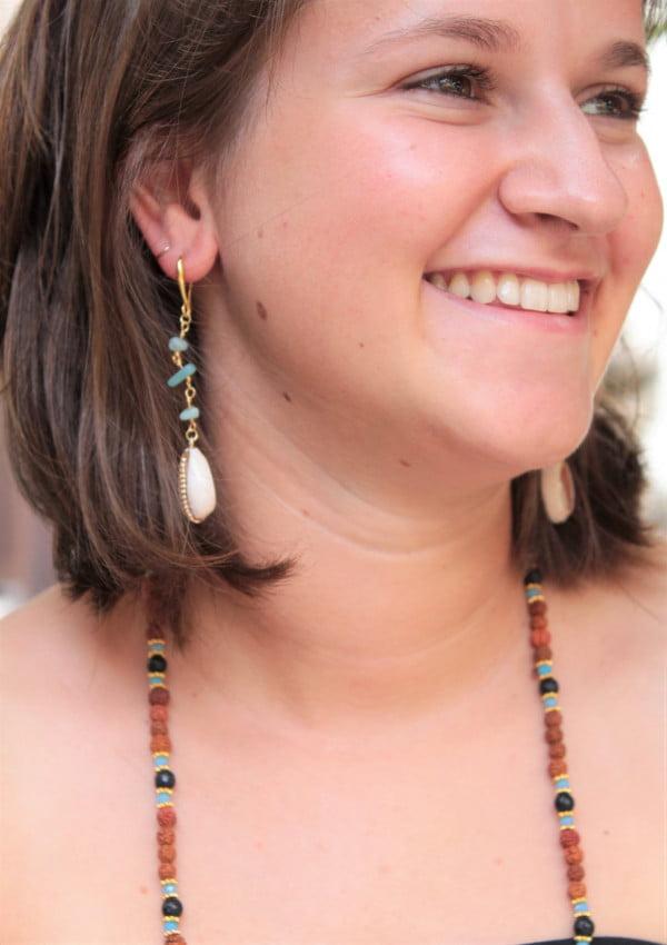 Boho Beach Shell Earrings Gold palted 18k