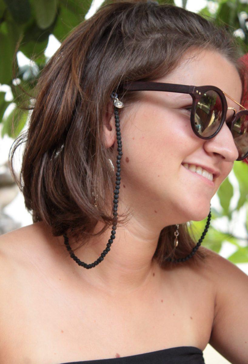 Brillenkette Brillenkordel Lavastein Bohemian Hippie Style