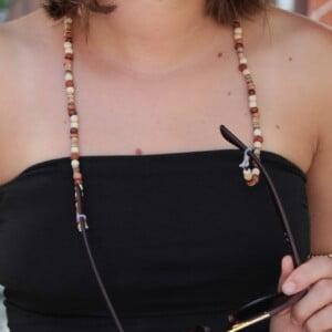 Brillenkette Holzperlen Rudraksha Boho Sommer