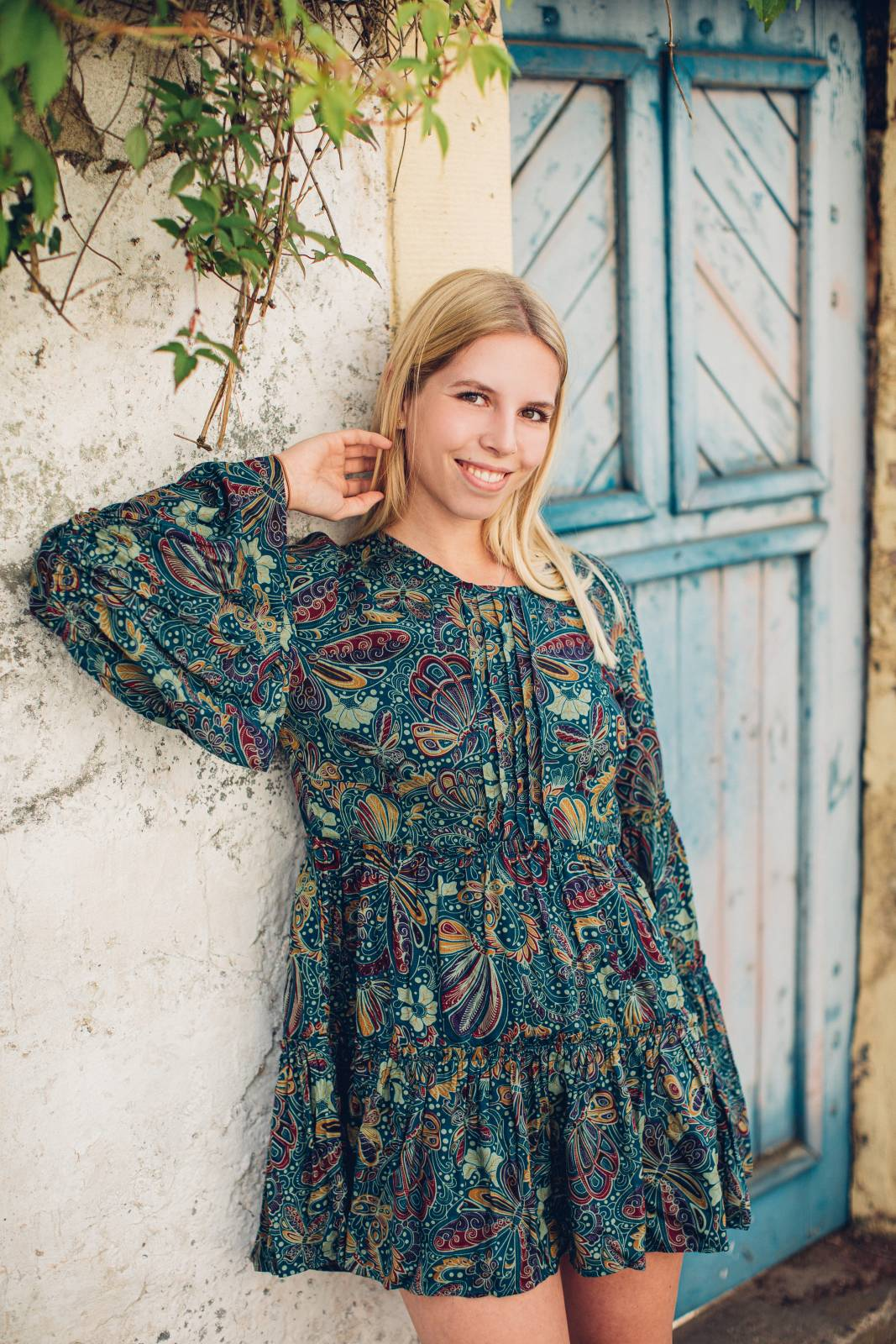 Ibiza Style Tunika Kleid Langarm