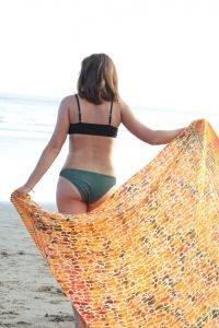 Sarong Tuch Hippie Batik Schal Strand Tuch Orange Safari Print