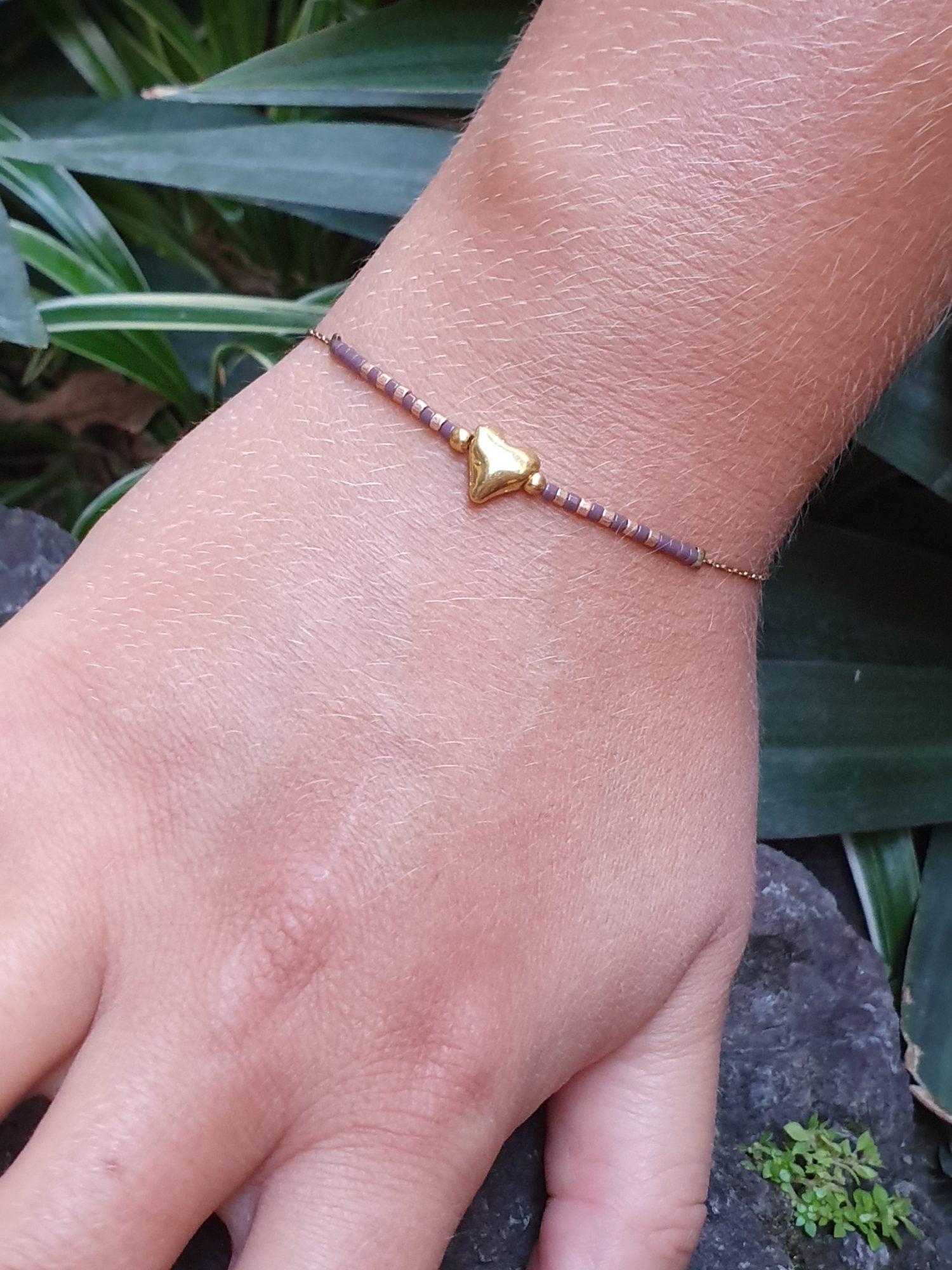 Fine Heart Bracelet Spread Love