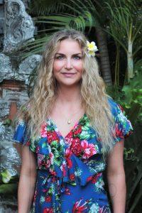Sommerkleid Hawaii Blumen Blau