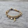 Armband Elegant Achat Messing Makramee