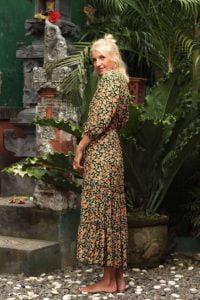 Hippie Kleid Blumen - Bohemian Kleid Sommer
