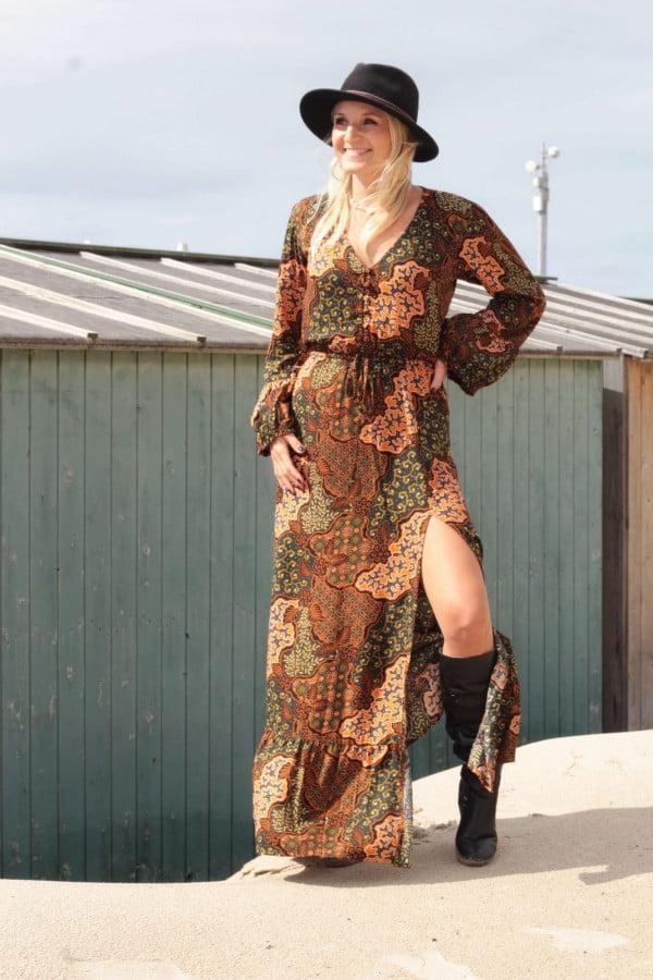 Bohemian Hippie Kleid Maxikleid