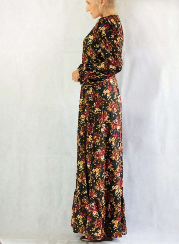 Bohemian Kleidung Maxikleid Hippie Style Blumenmuster