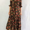 Boho Chic Kleid Geblümt Gypsy Style Ibiza Kleid Fair Trade