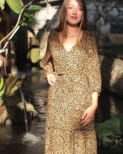 Boho Hippie Chic Online Shop Midi Kleid Langarm
