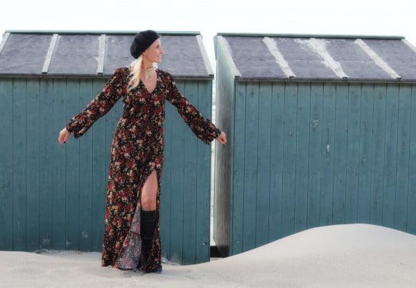 Boho Kleid Lang Damen Langarm Onlineshop Boho Ibiza Kleidung Hippie Chic