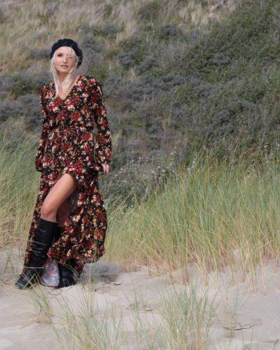 Boho Onlineshop Deutschland Bohemian Kleid Maxikleid schwarz