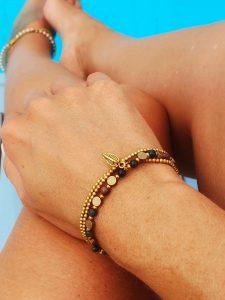 Hippie Makramee Schmuck Achat Triple Armband