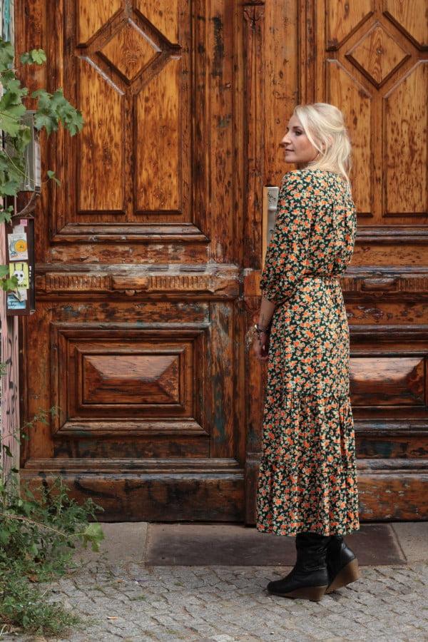 Modern Hippie Kleid Blumenmuster
