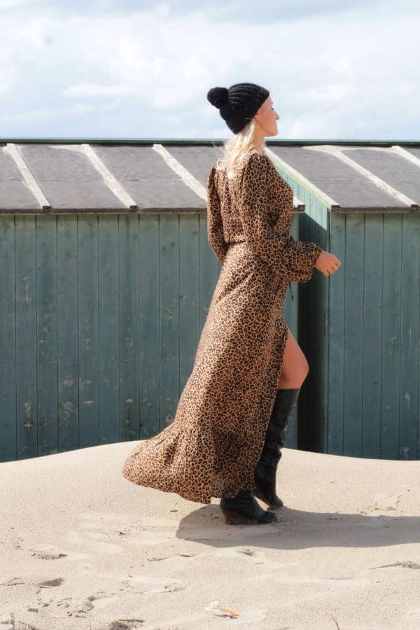 Leoparden Maxi Kleid Boho Style