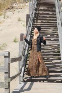 Modern Hippie Clothing Boho Dress Leopard Print