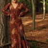 Bohemian Maxikleid Batik Muster Hippie Style