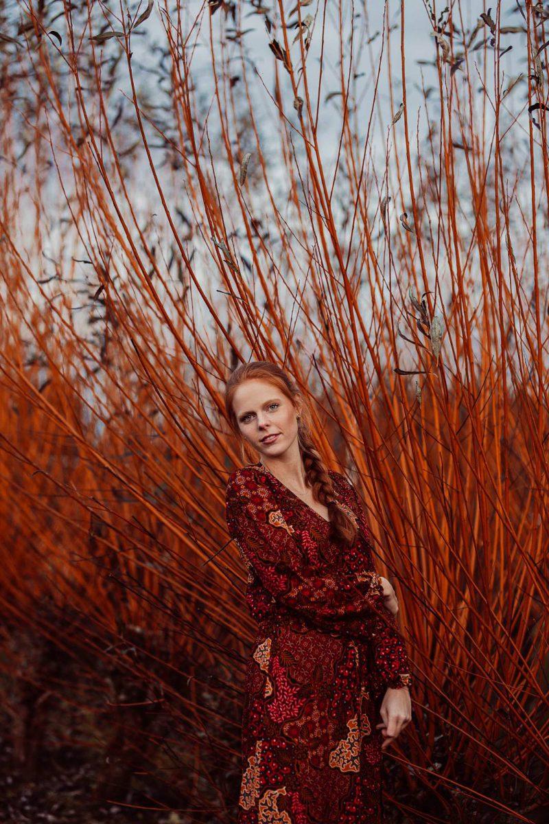 Boho Kleid Herbst Look