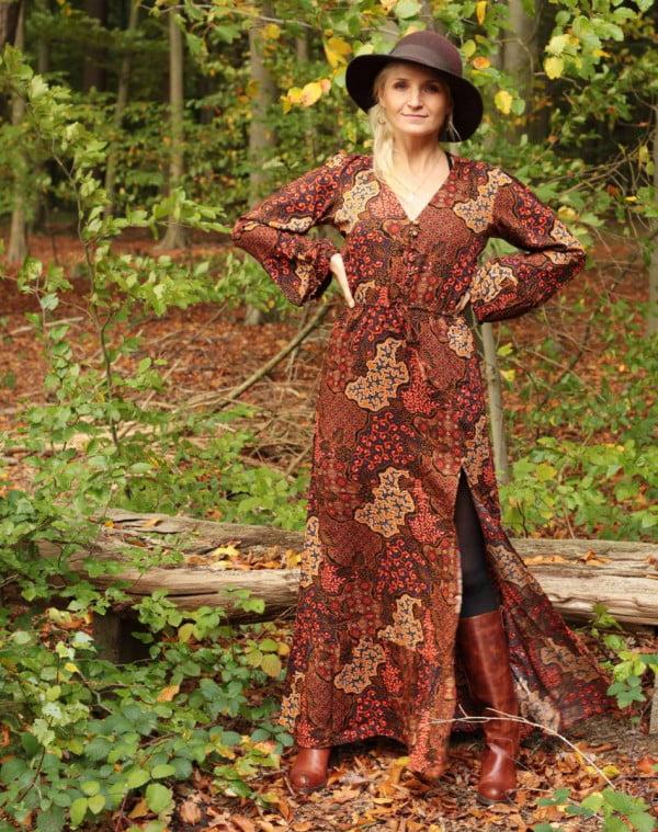 Boho Kleid Herbst Winter