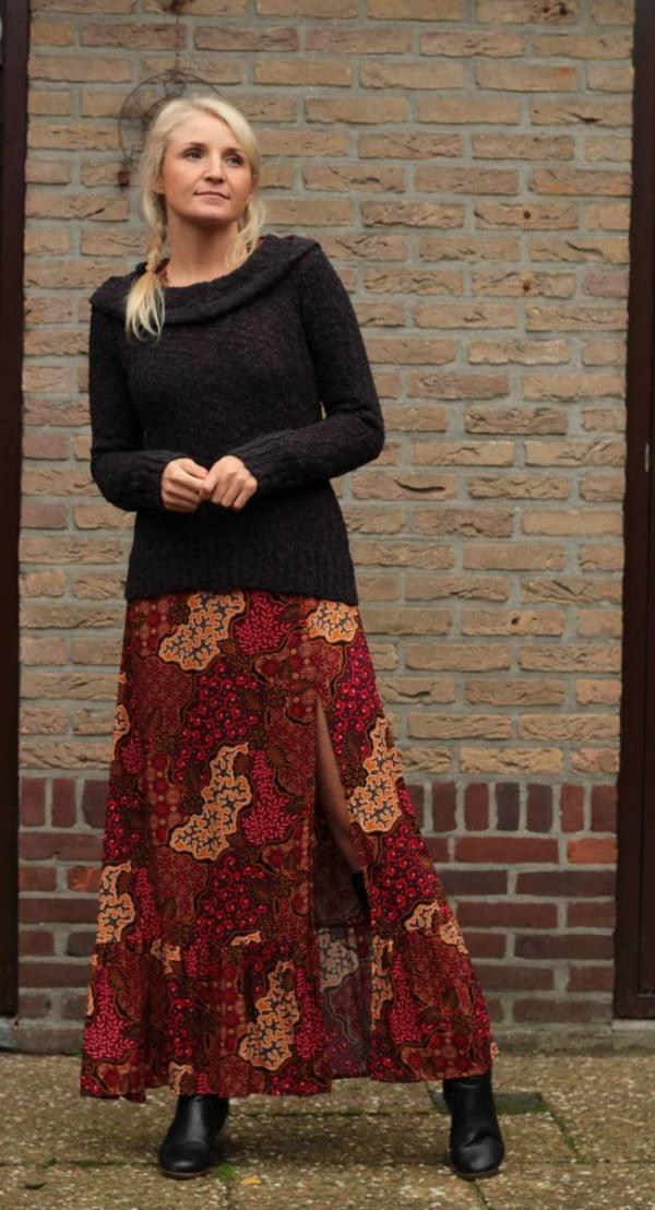 Boho Kleidung Herbst Winter - Hoodie Schwarz