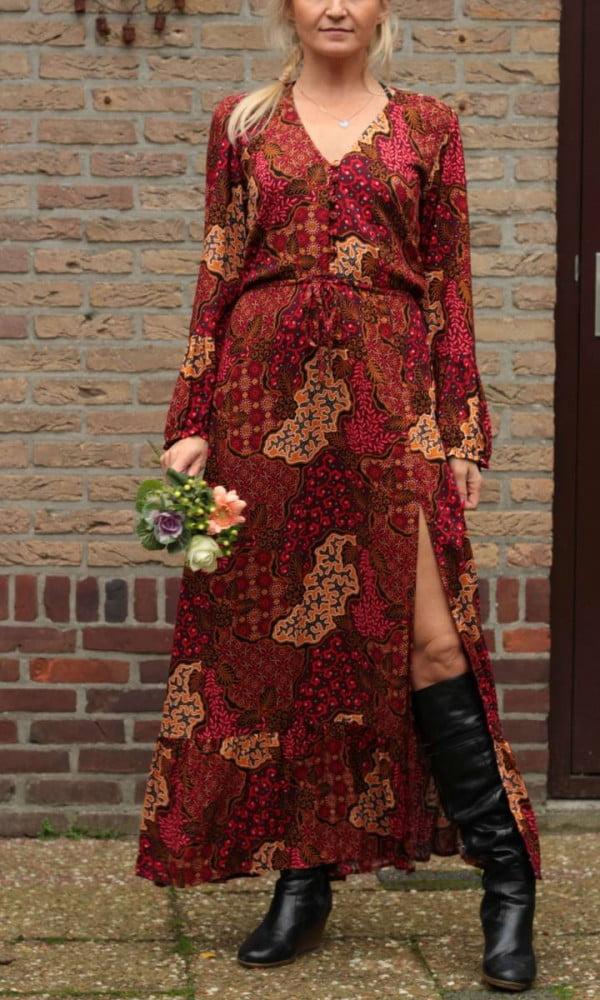 Boho Maxikleid Rot Batik