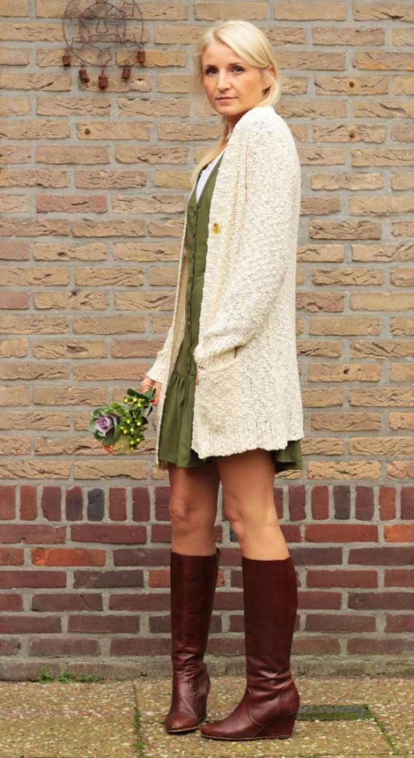 Boho Style Hippie Chic Outfit Cardigan Jacke Strickwaren Damen