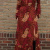 Gypsy dress long bohemian maxi dress with slit