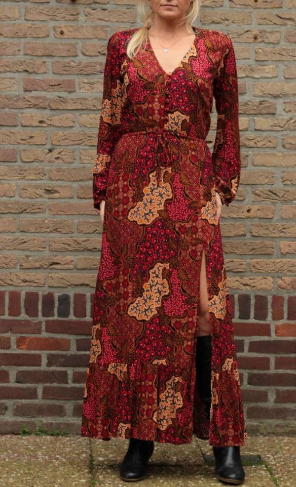 Gypsy Kleid Lang Bohemian Maxikleid mit Schlitz