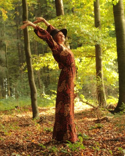 Herbst Outfit Maxikleid