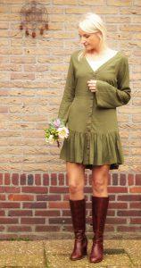 Herbst Winter Boho Outfit Khaki