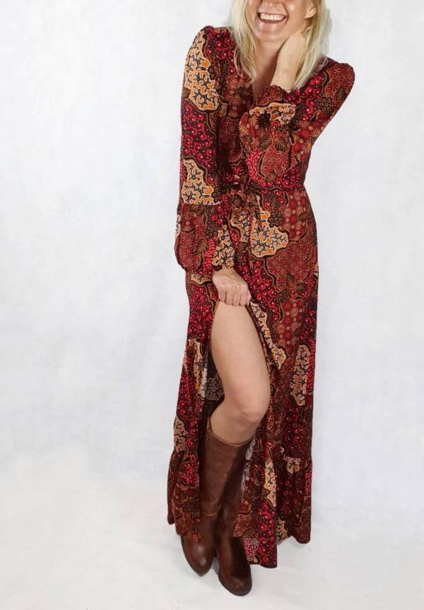 Hippie Maxi Kleid Retro Style