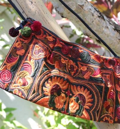 Bohemian Handtasche klein mit Stickerei