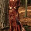 Langärmeliges Maxikleid Hippie Boho Style Batik
