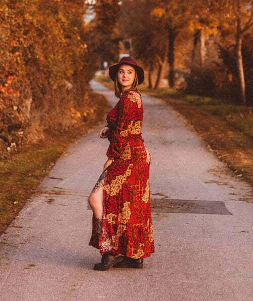 Boho Maxi Kleid Hippie Style