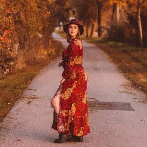 Boho Kleidung Rotes Maxikleid Boho Gypsy Style Faire Hippie Kleidung