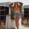 Sommer Jacke Strick Cardigan Boho Hippie Style (1)