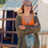 Sommer Jacke Strick Cardigan Boho Hippie Style (10)