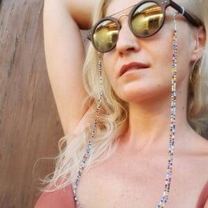 Bunte Brillenkette Doppelter Strang