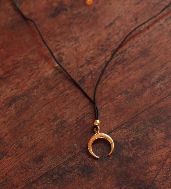 Halbmond Boho Halskette 18k vergoldet