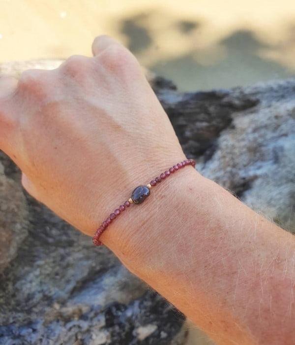 Granat Armband Fein