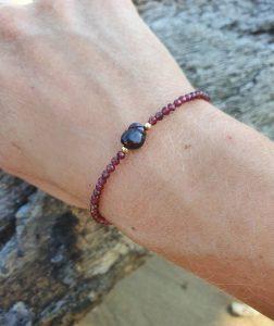 Feines Armband Granat Edelstein