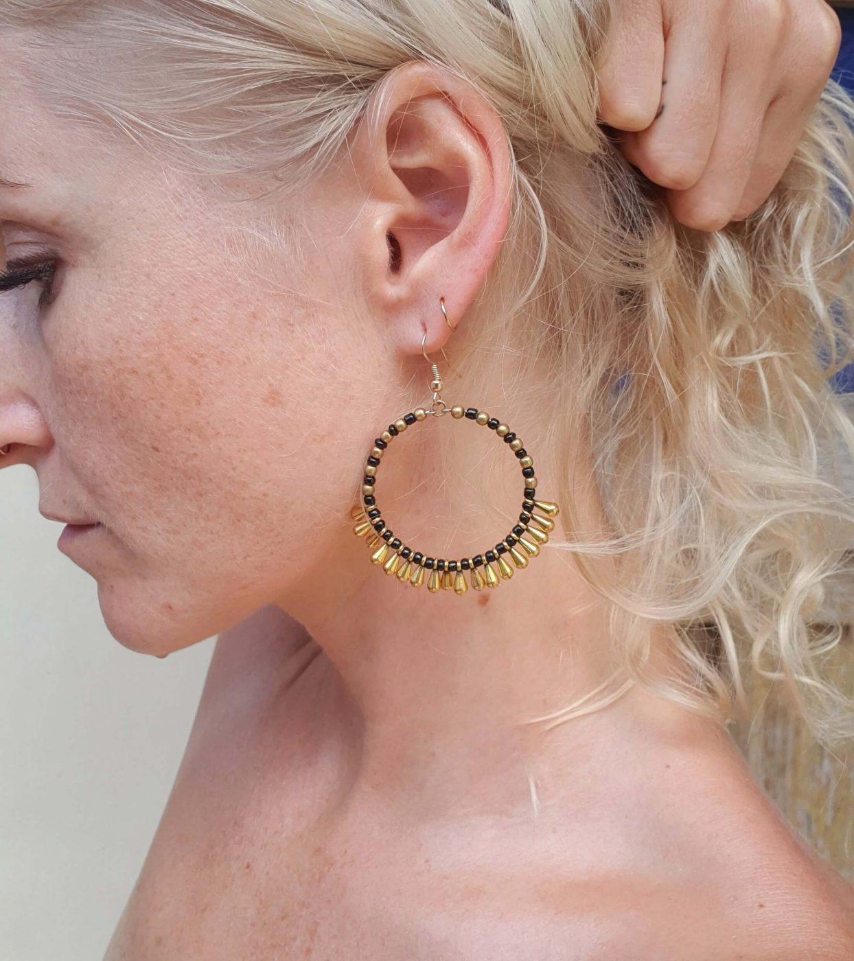 Hippie Schmuck Online kaufen Hippie Creolen Ohrringe Groß