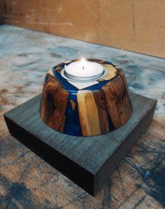 Kerzenständer Holz Handgefertigt